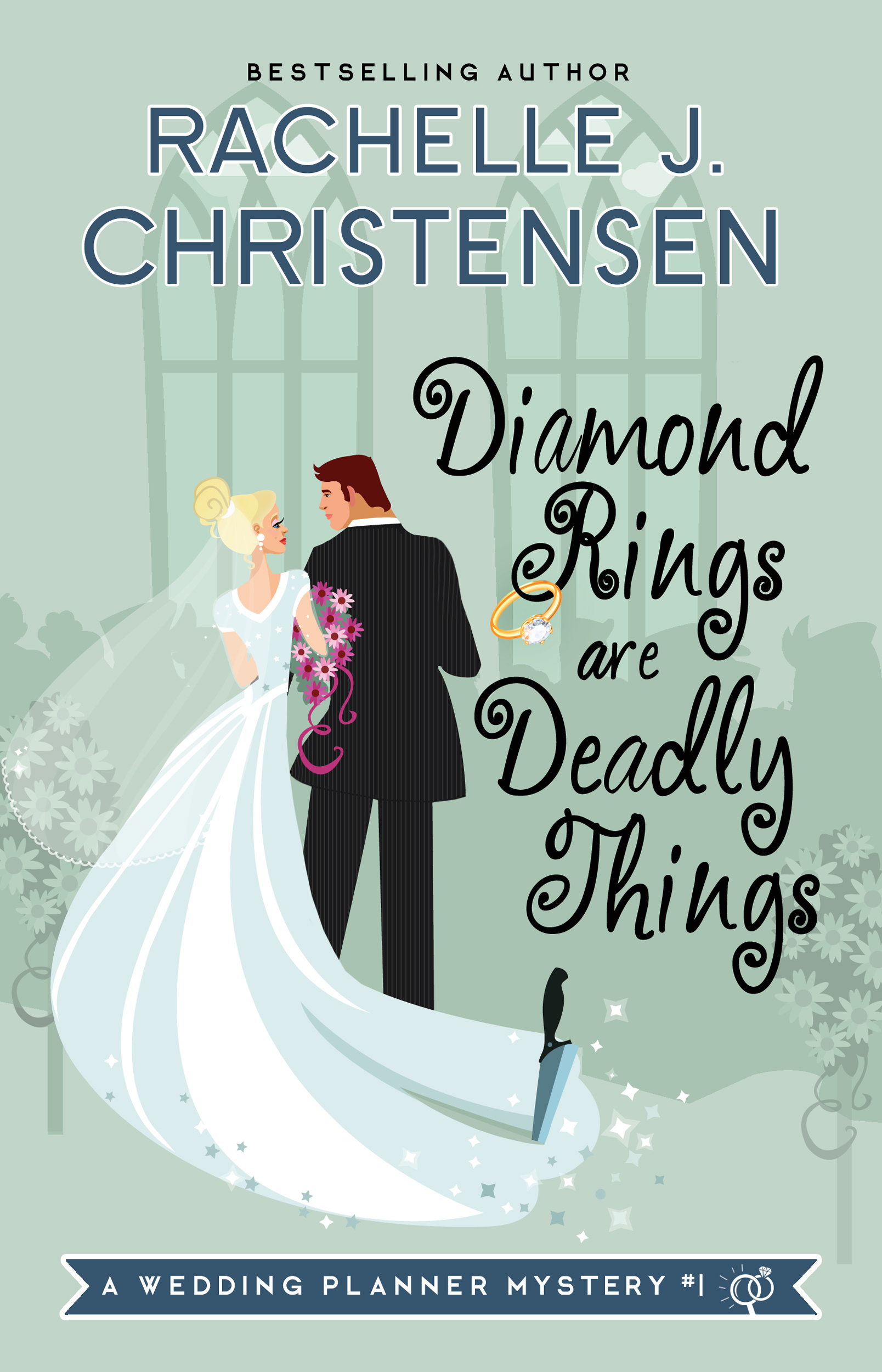 DIAMOND RINGS ARE DEADLY THINGS - Front Cover (for  Amazon)