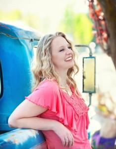 Rachelle, old truck